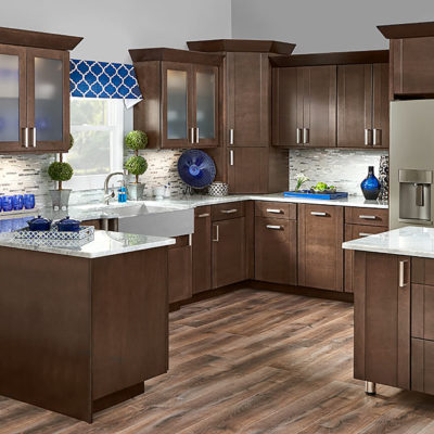 Aero cherry slate kitchen cabinets