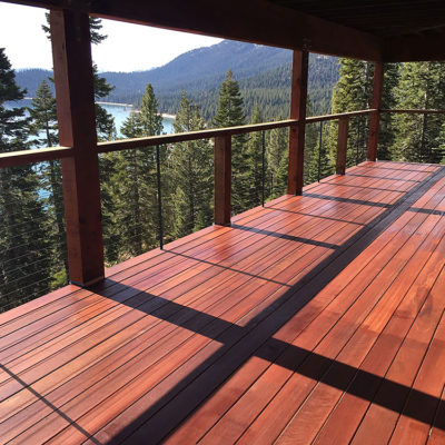 Deck railing cable