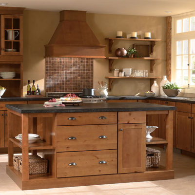 Concord harvest kitchen island with drawers