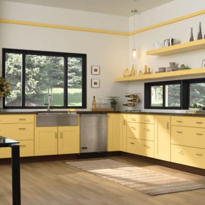 Copenhagen maple kitchen cabinets