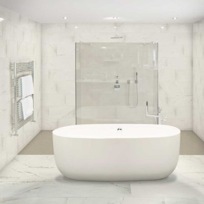 Classentino Marble Palazzo White tile