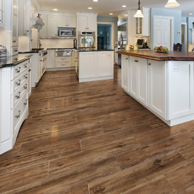 Wood look kitchen tile