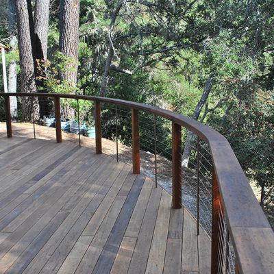 Deck railing cables