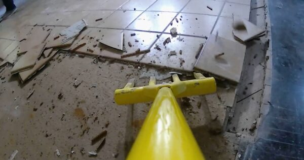 Removing tile flooring