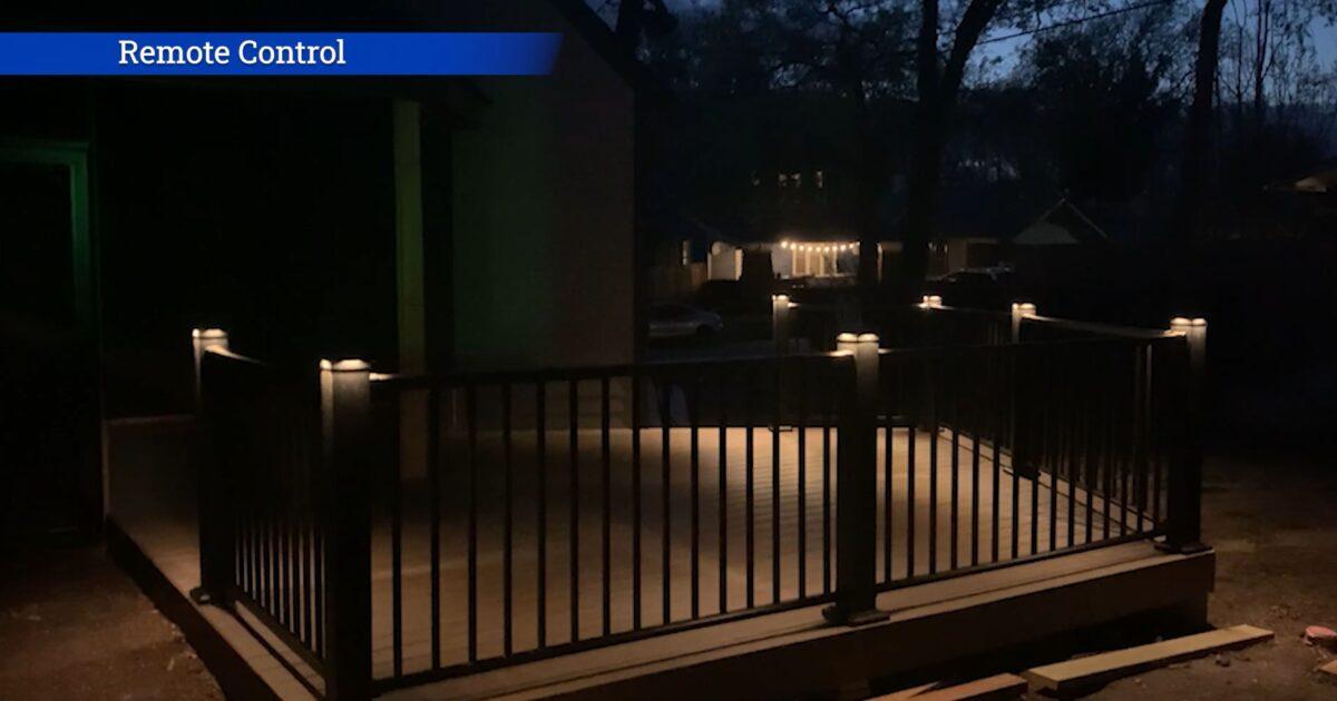 Remote control deck lighting