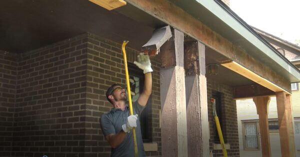 Replacing cedar porch posts